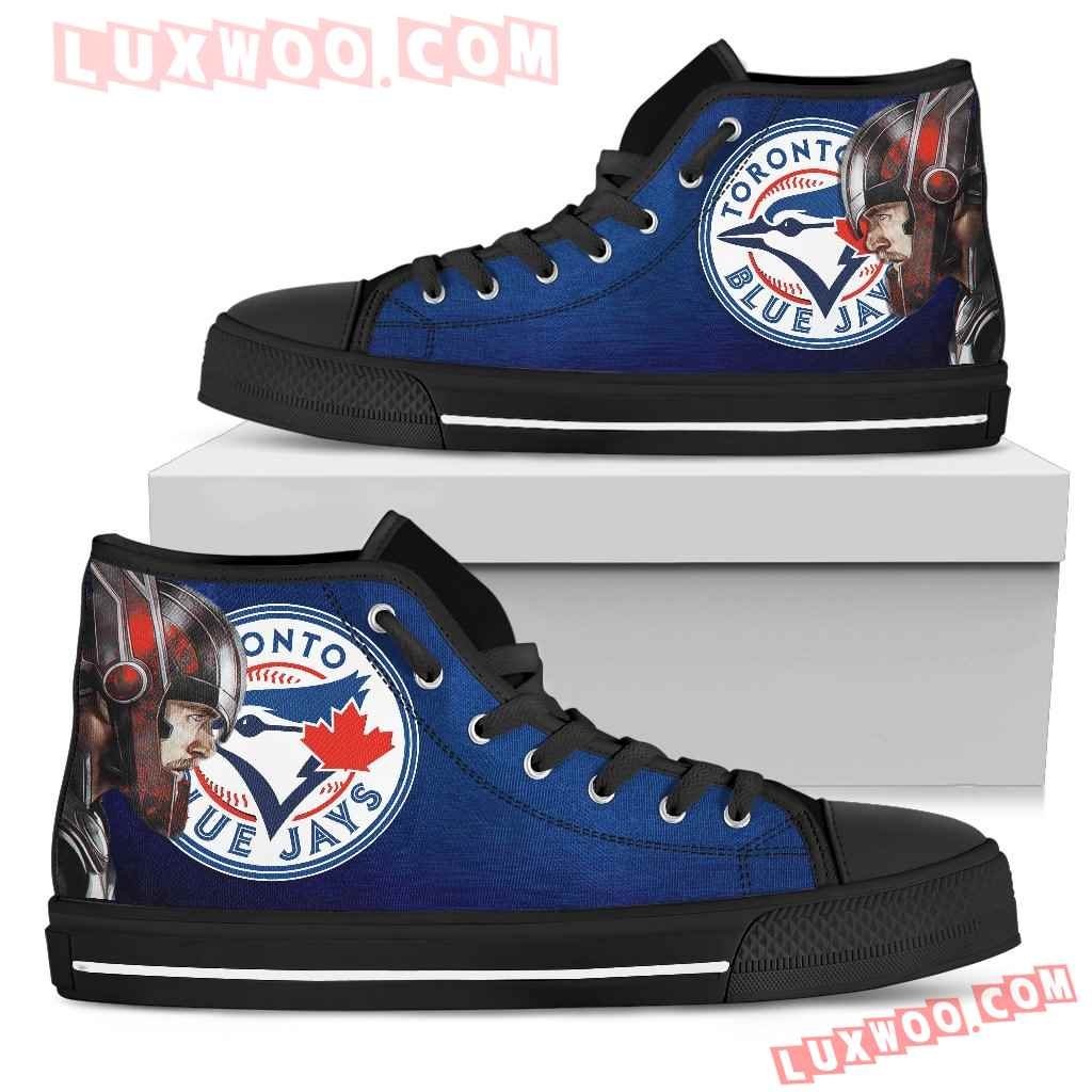 Thor Head Beside Toronto Blue Jays High Top Shoes