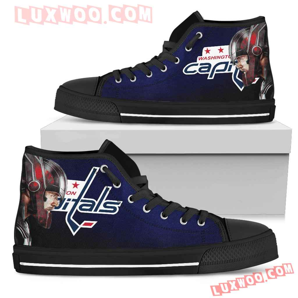 Thor Head Beside Washington Capitals High Top Shoes