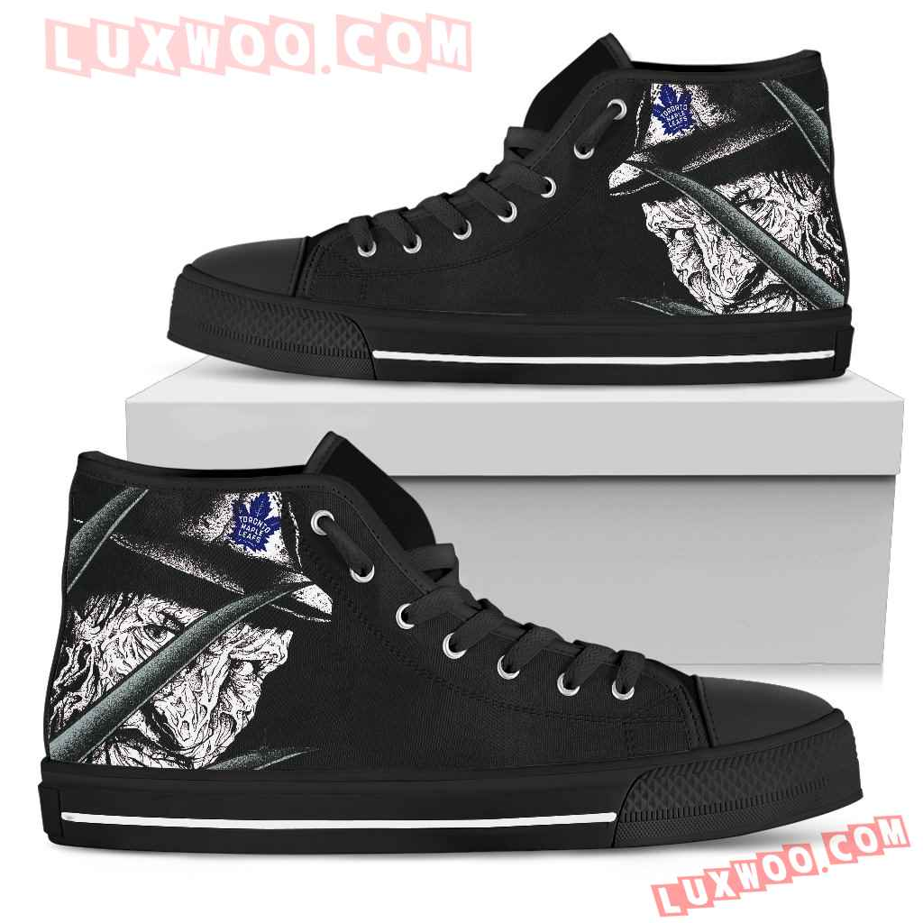 Toronto Maple Leafs Nightmare Freddy Colorful High Top Shoes