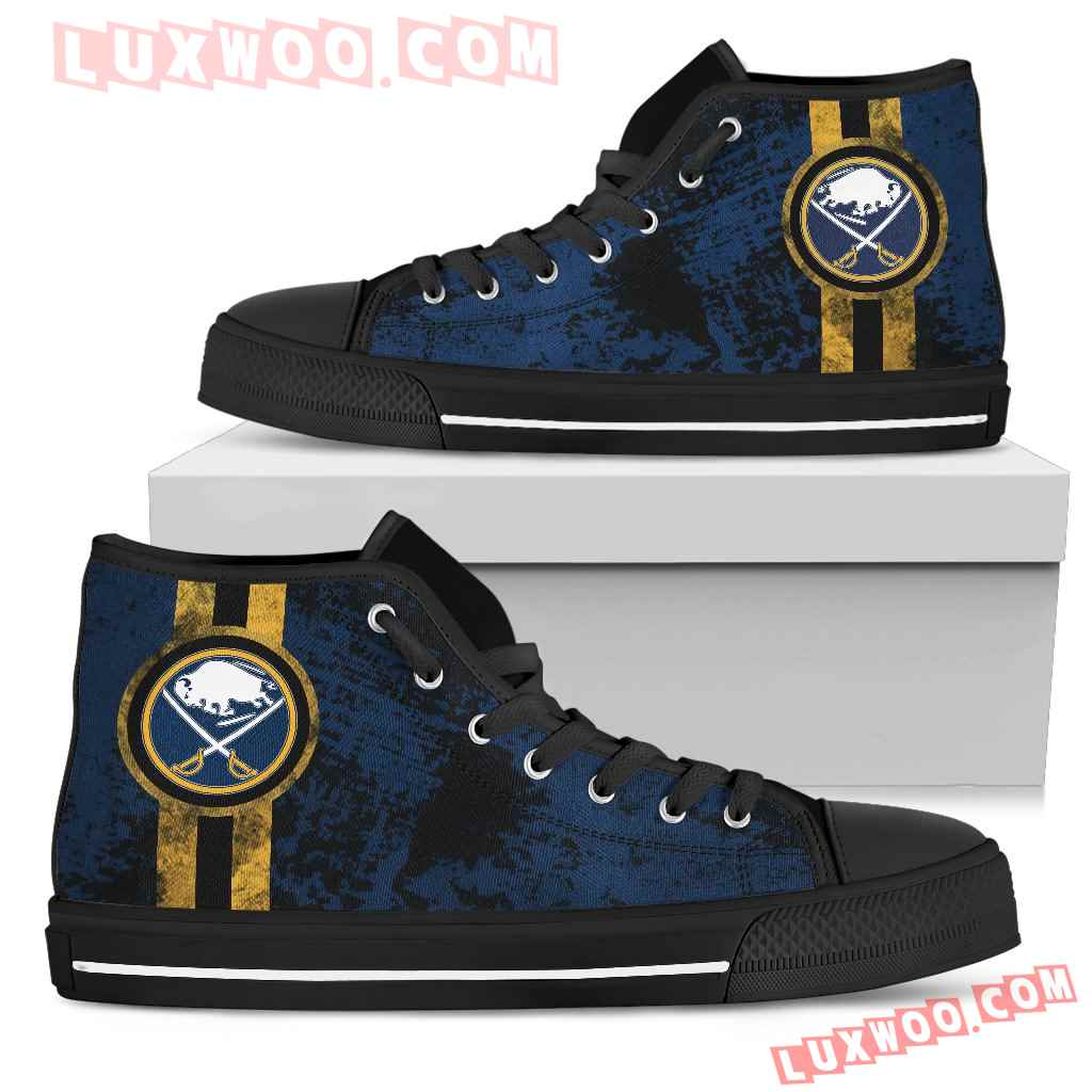 Triple Stripe Bar Dynamic Buffalo Sabres High Top Shoes V1
