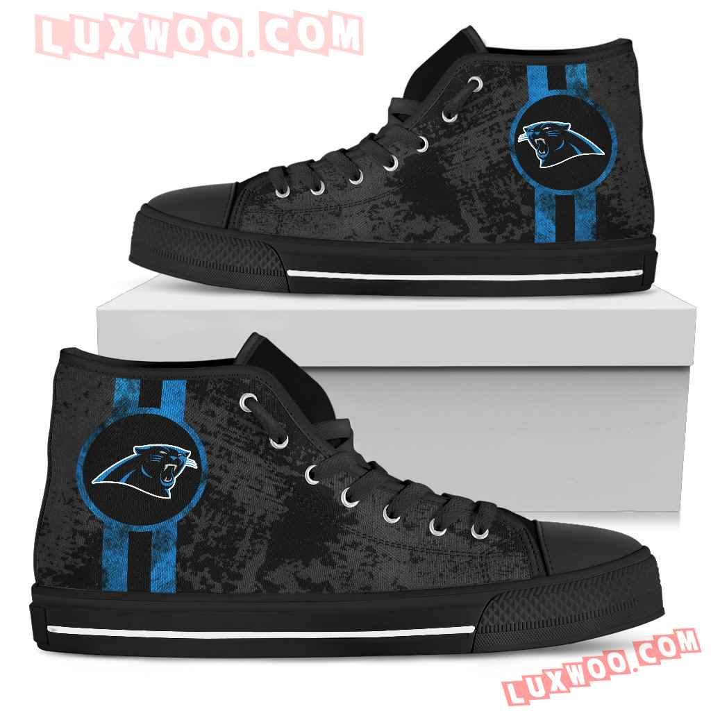 Triple Stripe Bar Dynamic Carolina Panthers High Top Shoes V1
