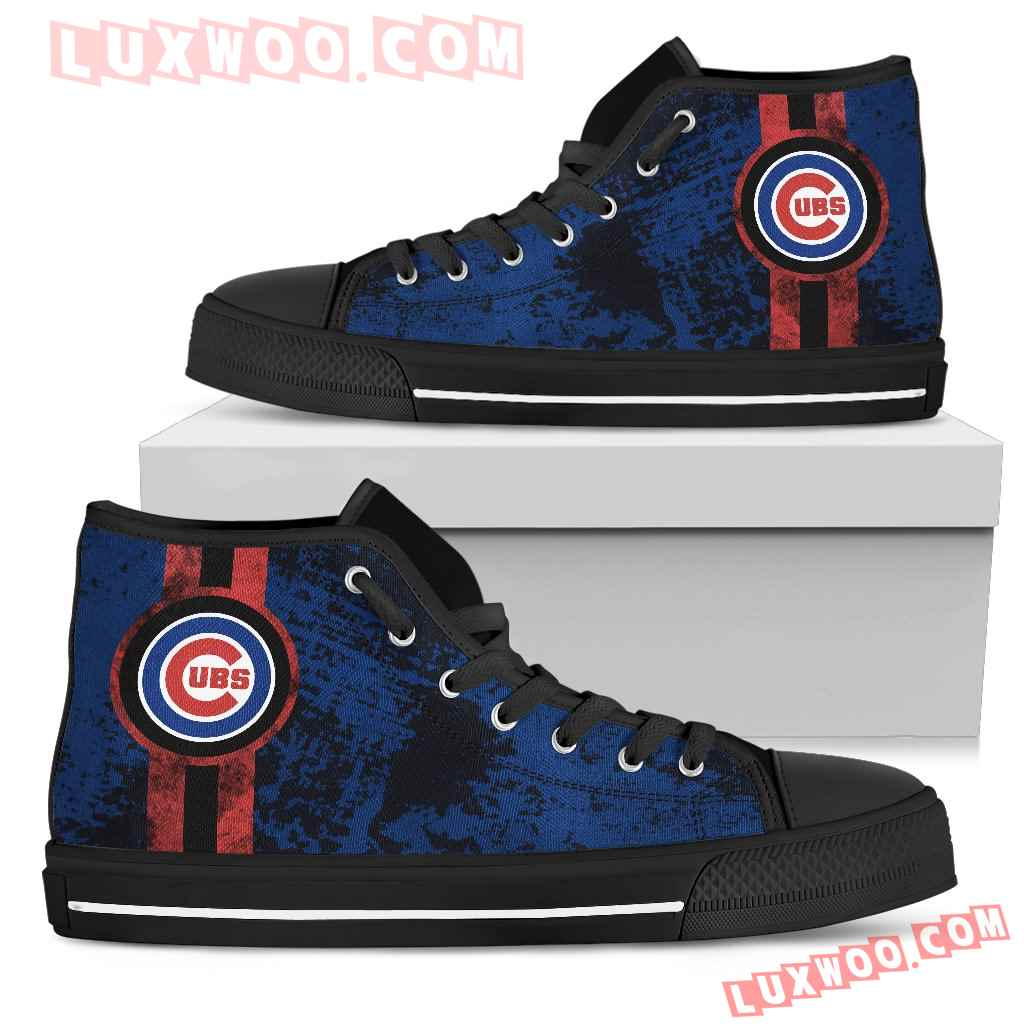 Triple Stripe Bar Dynamic Chicago Cubs High Top Shoes V1