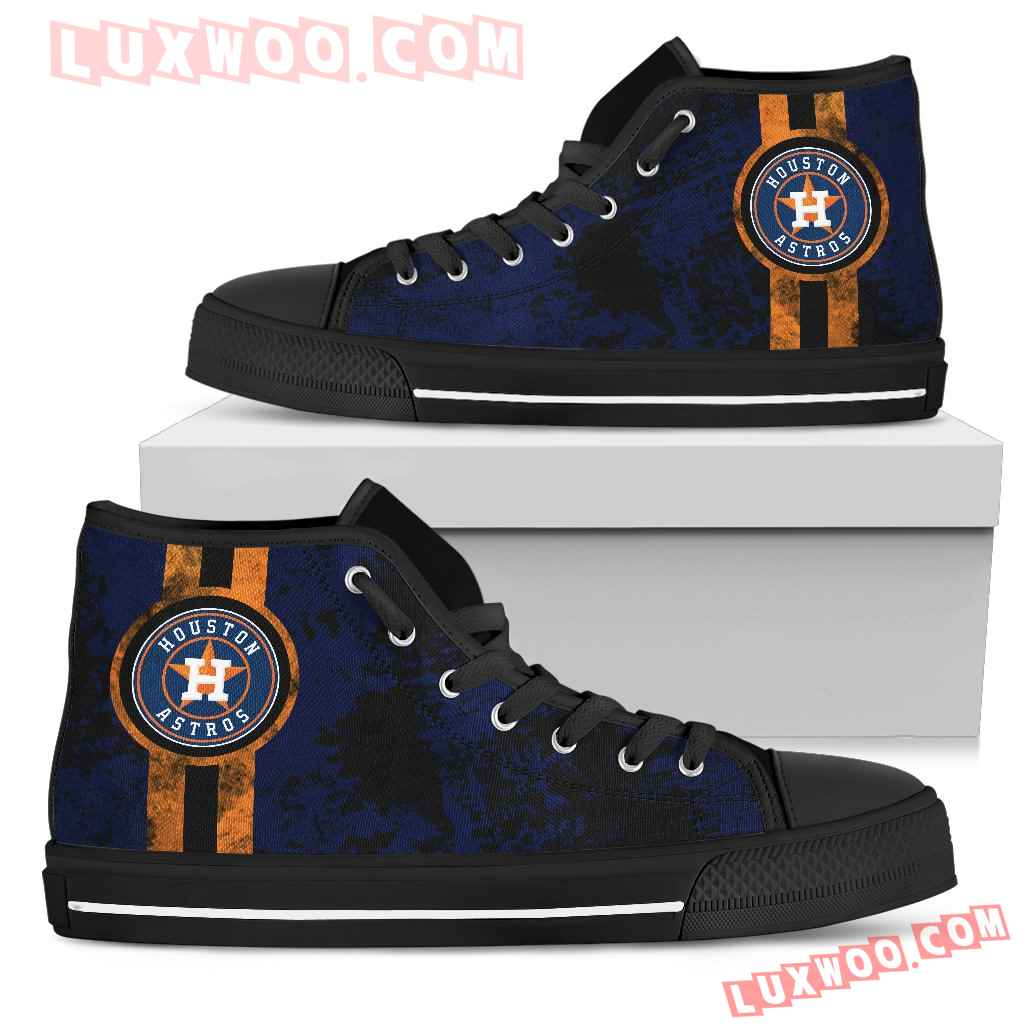 Triple Stripe Bar Dynamic Houston Astros High Top Shoes