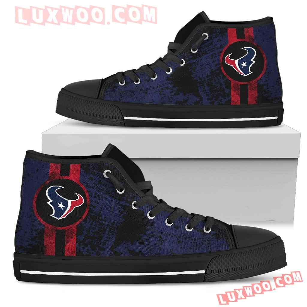Triple Stripe Bar Dynamic Houston Texans High Top Shoes V1