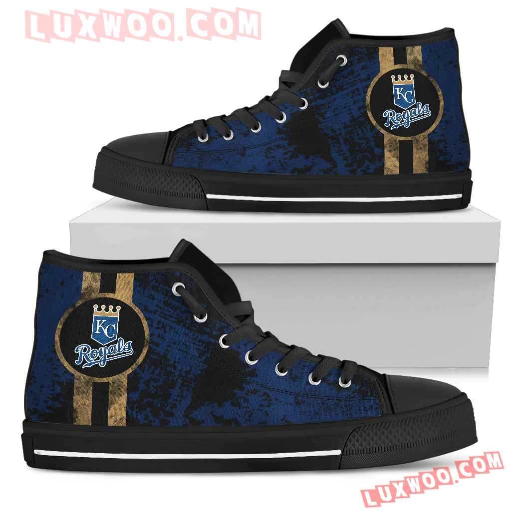 Triple Stripe Bar Dynamic Kansas City Royals High Top Shoes