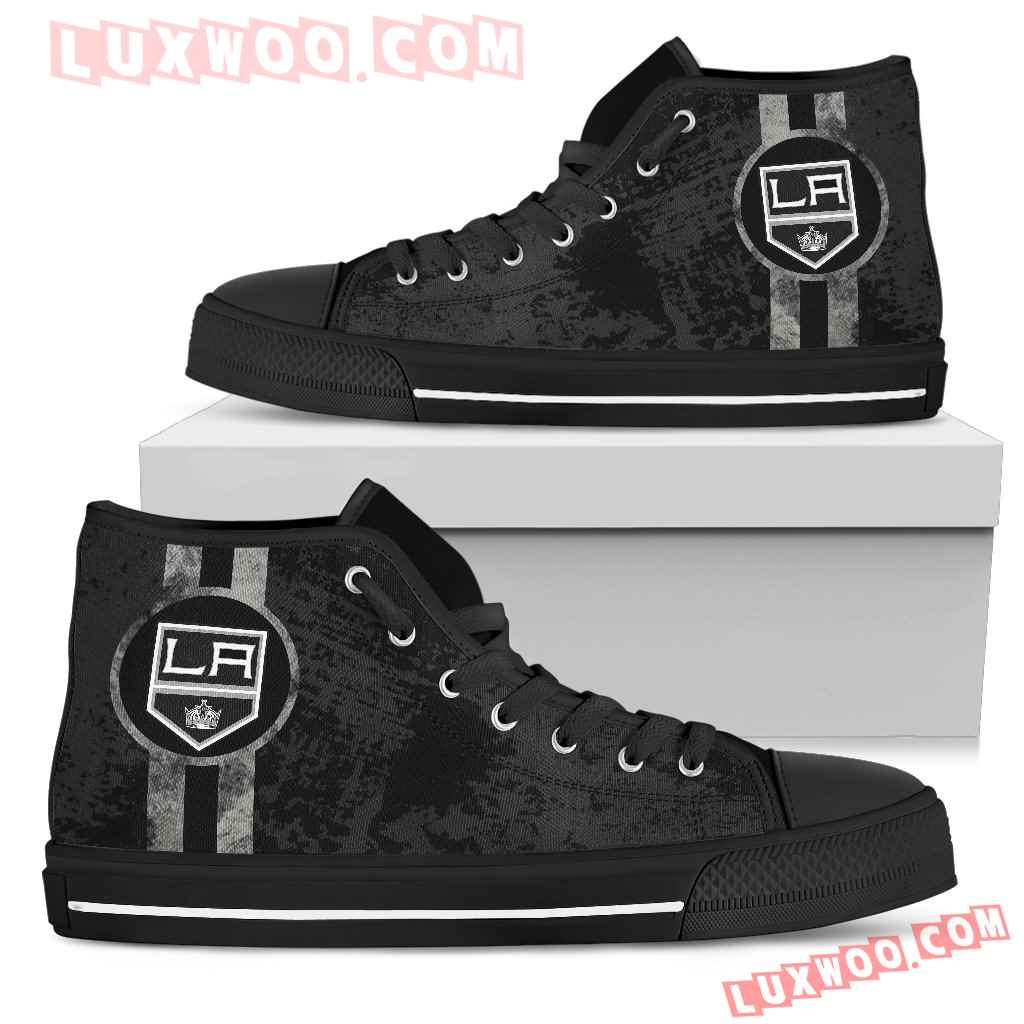 Triple Stripe Bar Dynamic Los Angeles Kings High Top Shoes V1