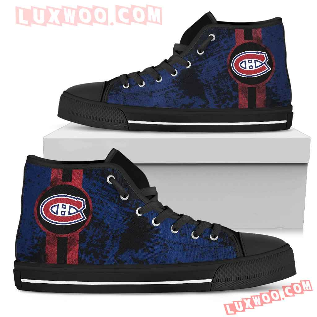 Triple Stripe Bar Dynamic Montreal Canadiens High Top Shoes V1