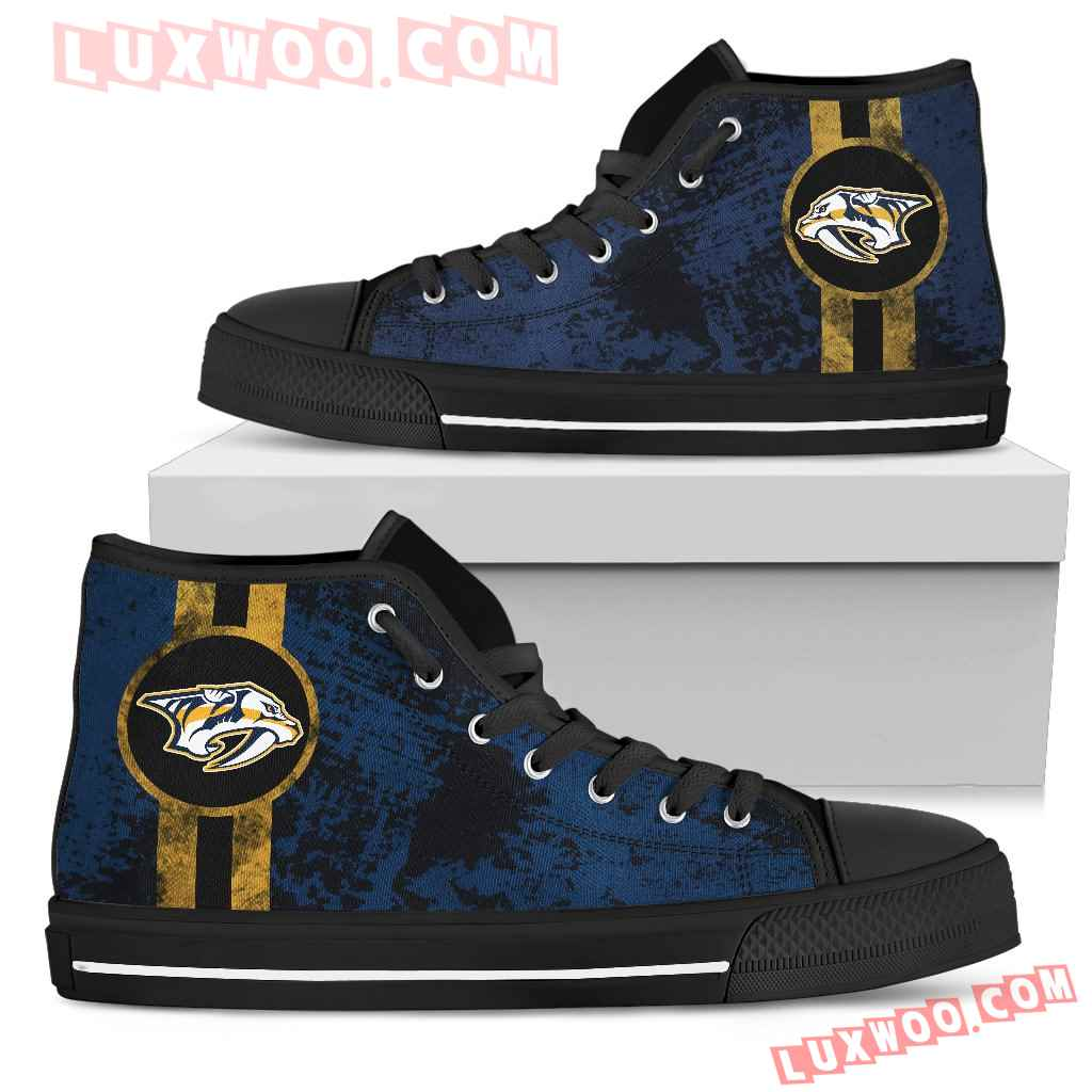 Triple Stripe Bar Dynamic Nashville Predators High Top Shoes V1