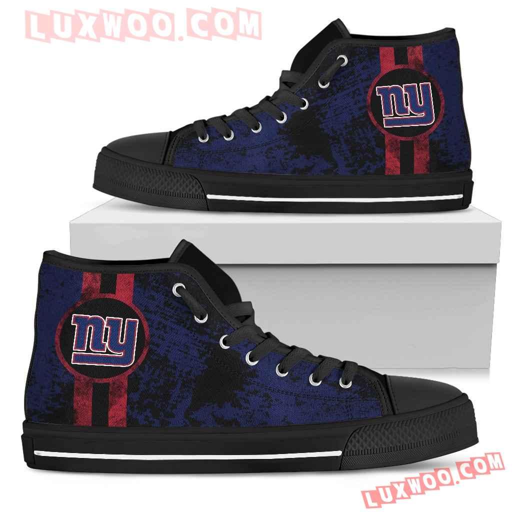 Triple Stripe Bar Dynamic New York Giants High Top Shoes V1