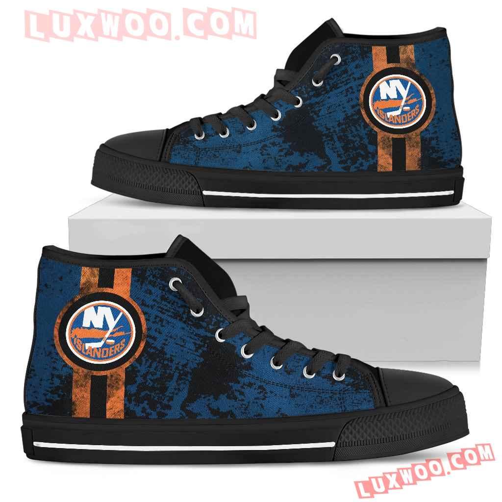Triple Stripe Bar Dynamic New York Islanders High Top Shoes V1