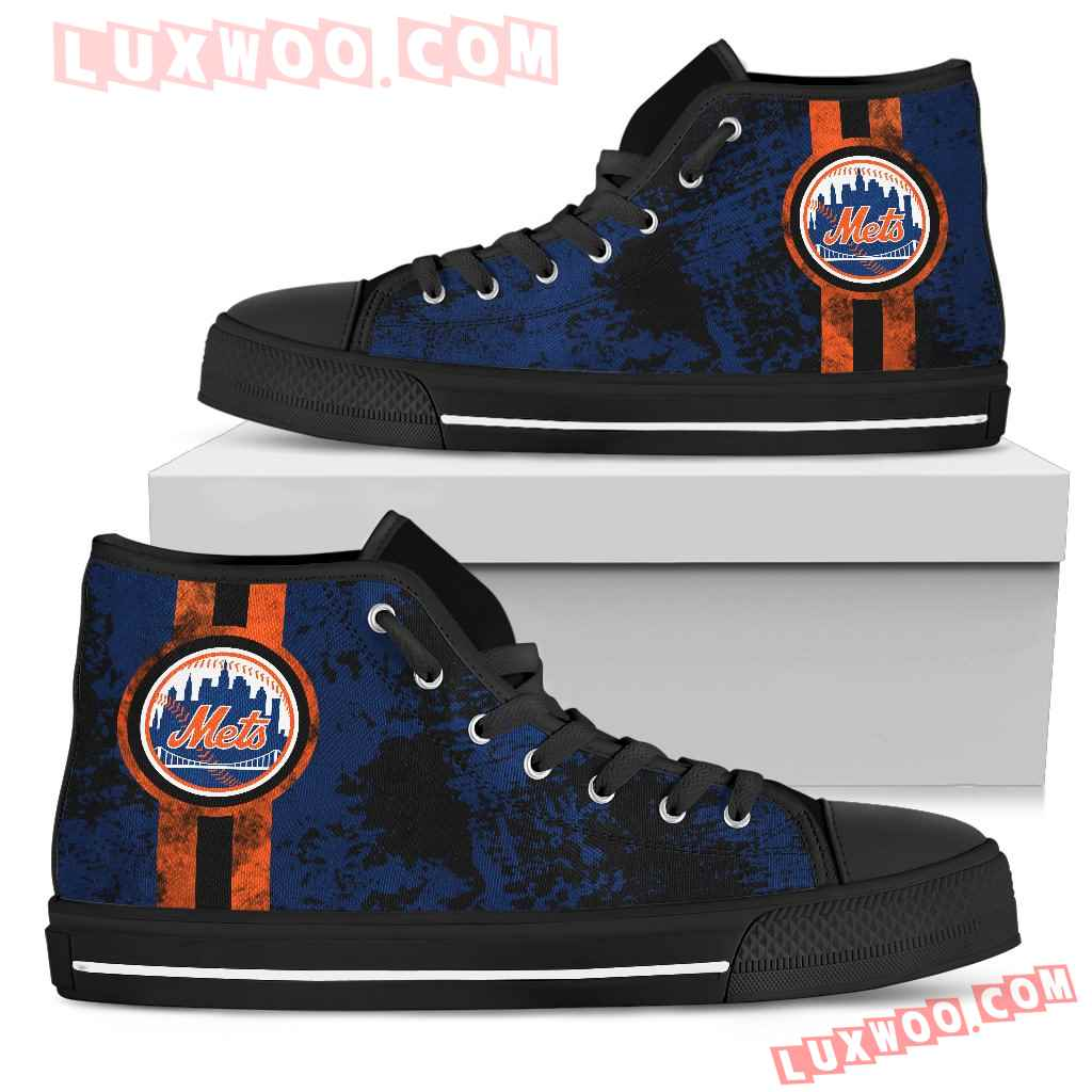 Triple Stripe Bar Dynamic New York Mets High Top Shoes