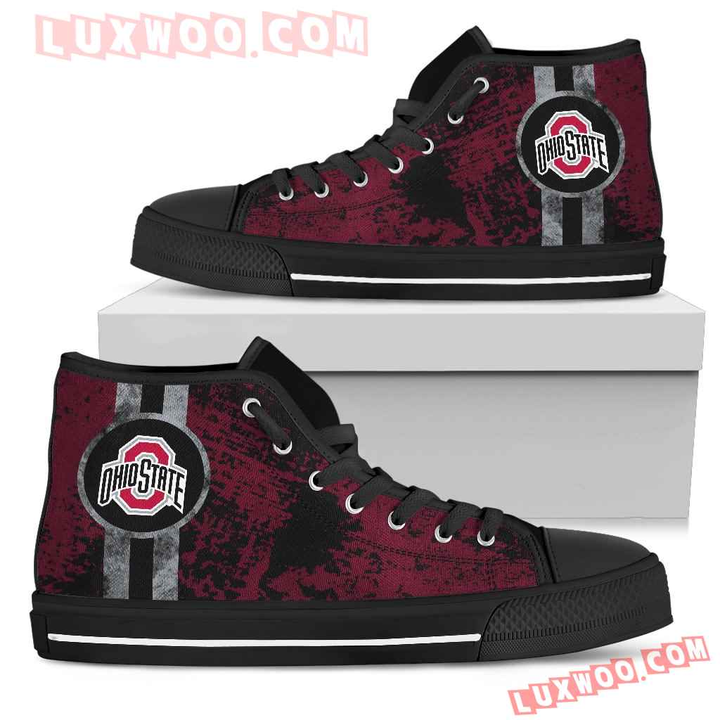 Triple Stripe Bar Dynamic Ohio State Buckeyes High Top Shoes
