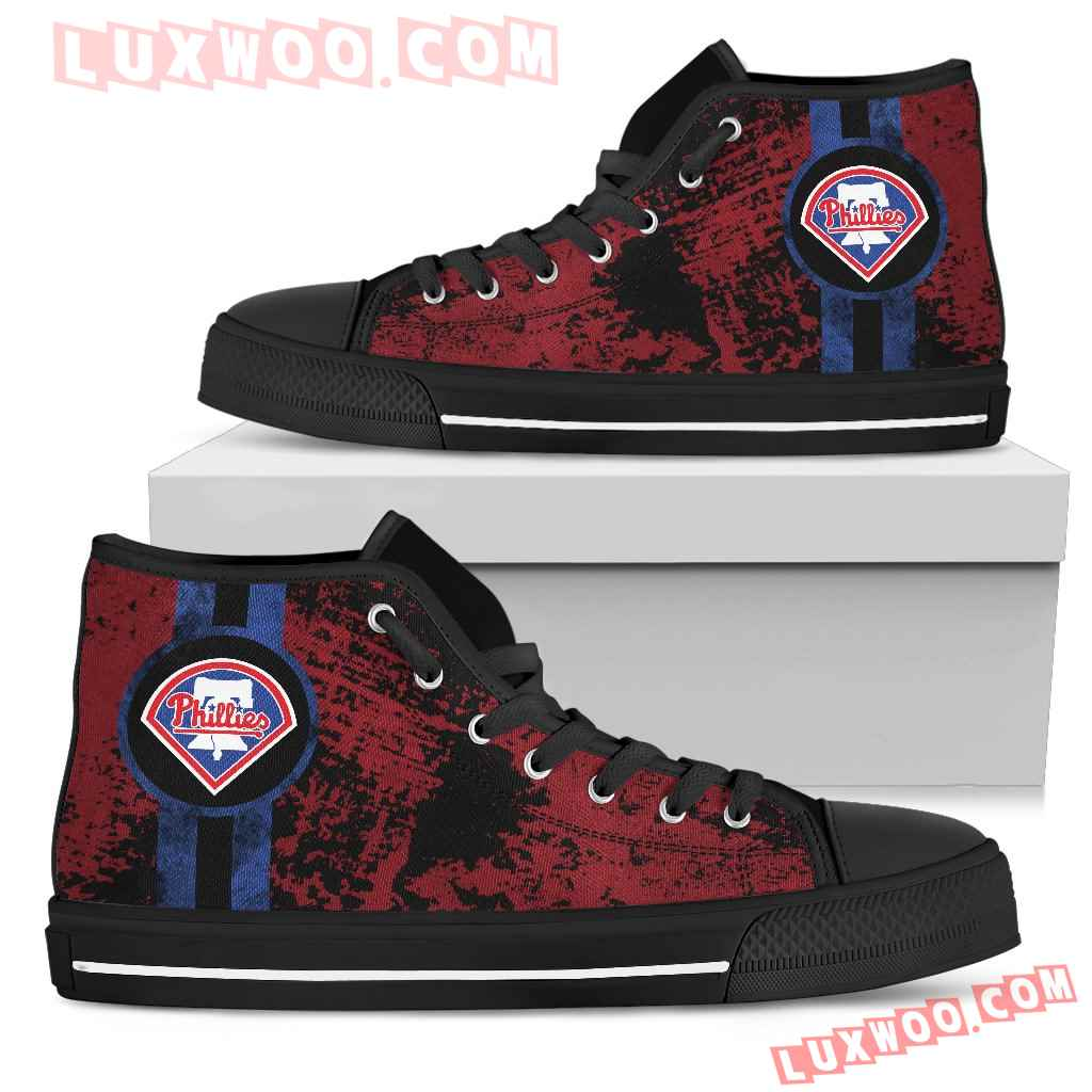 Triple Stripe Bar Dynamic Philadelphia Phillies High Top Shoes