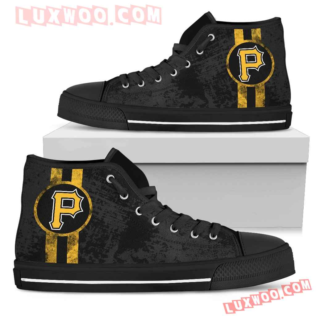Triple Stripe Bar Dynamic Pittsburgh Pirates High Top Shoes