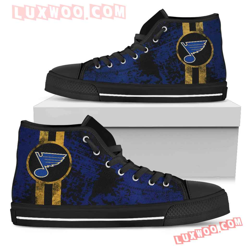 Triple Stripe Bar Dynamic St Louis Blues High Top Shoes V1