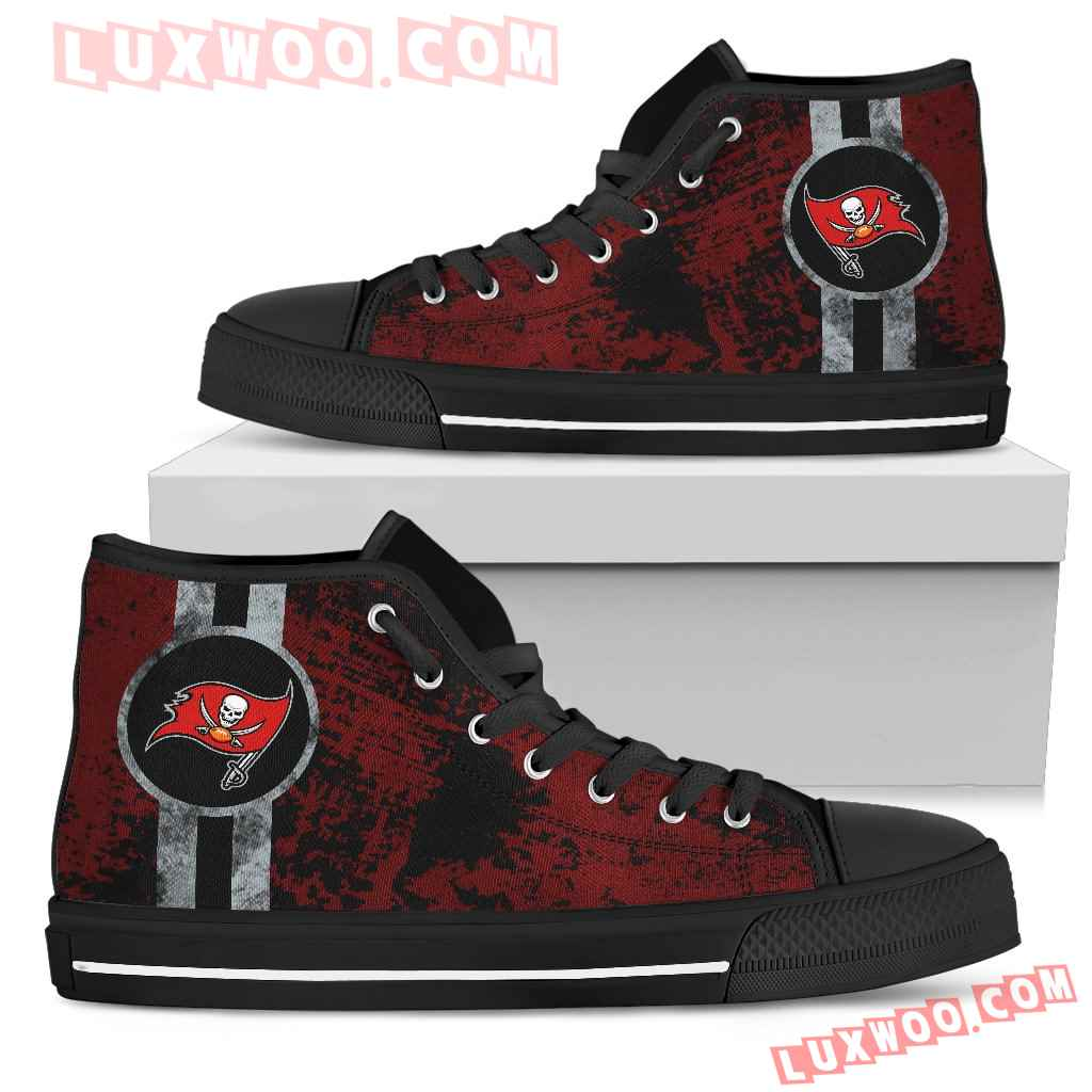 Triple Stripe Bar Dynamic Tampa Bay Buccaneers High Top Shoes V1