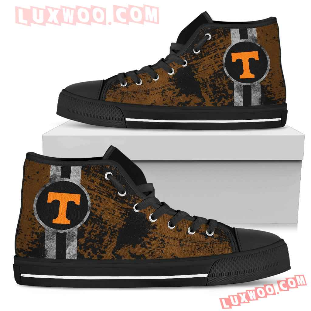 Triple Stripe Bar Dynamic Tennessee Volunteers High Top Shoes