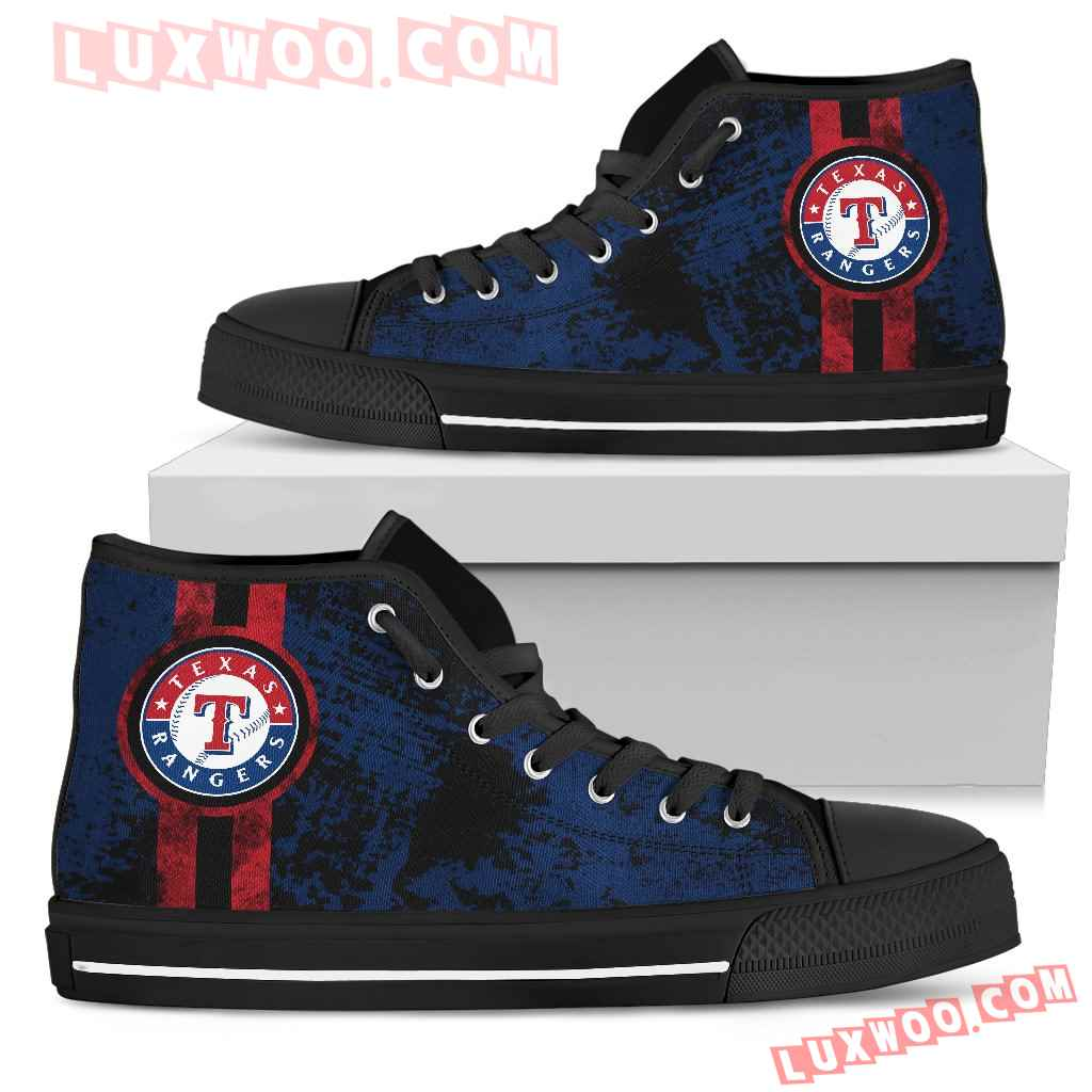 Triple Stripe Bar Dynamic Texas Rangers High Top Shoes