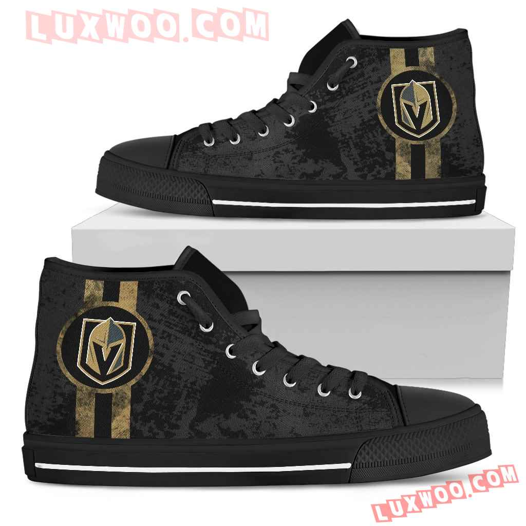 Triple Stripe Bar Dynamic Vegas Golden Knights High Top Shoes V1