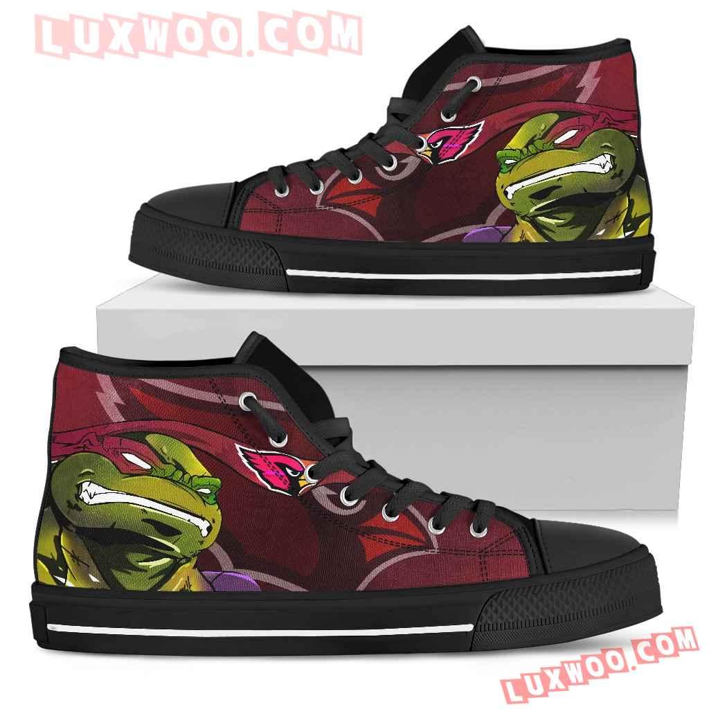 Turtle Arizona Cardinals Ninja High Top Shoes
