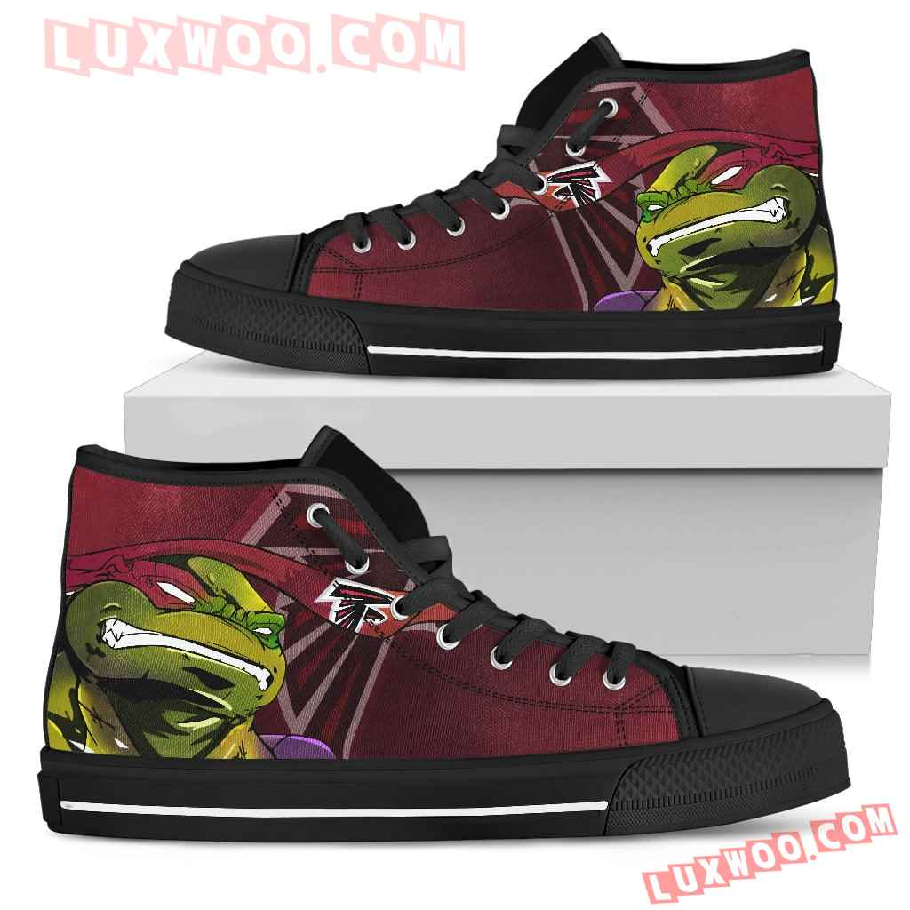 Turtle Atlanta Falcons Ninja High Top Shoes