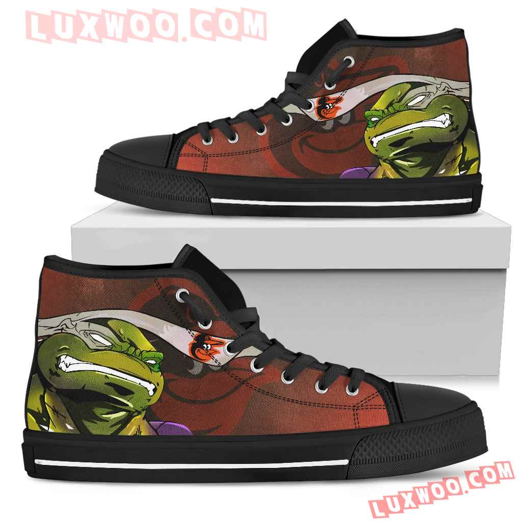 Turtle Baltimore Orioles Ninja High Top Shoes