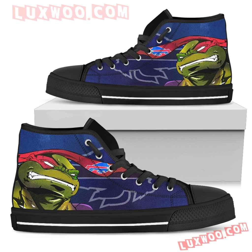 Turtle Buffalo Bills Ninja High Top Shoes