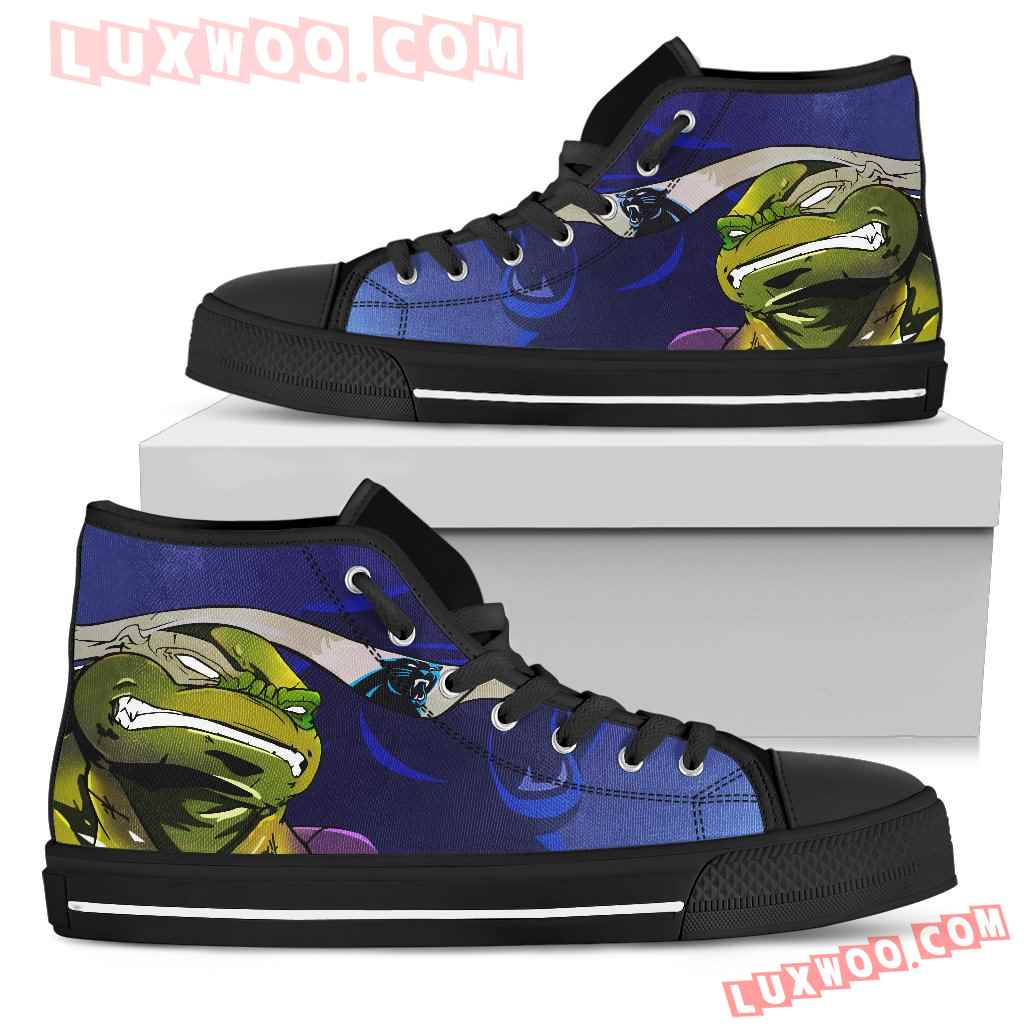 Turtle Carolina Panthers Ninja High Top Shoes