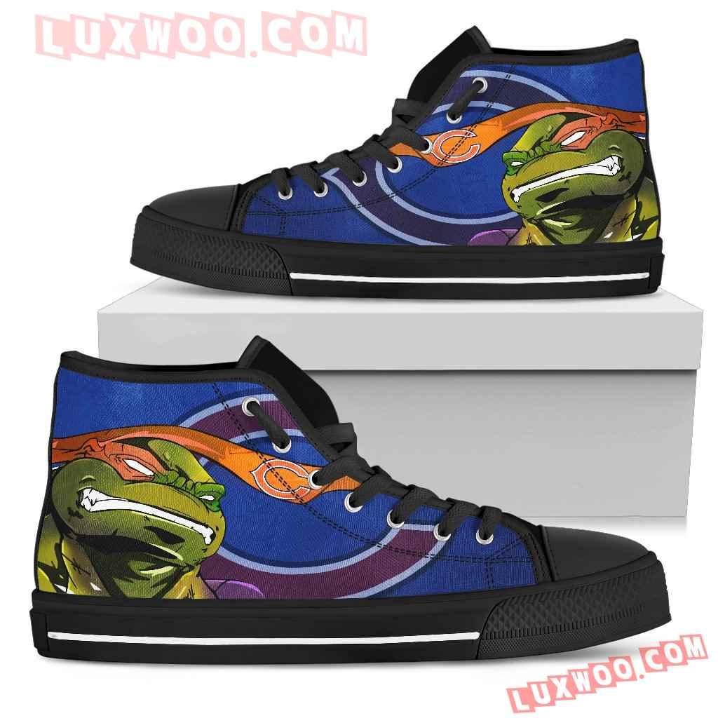 Turtle Chicago Bears Ninja High Top Shoes