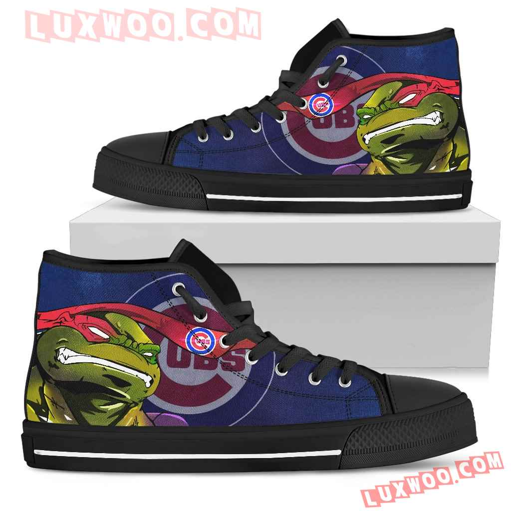 Turtle Chicago Cubs Ninja High Top Shoes