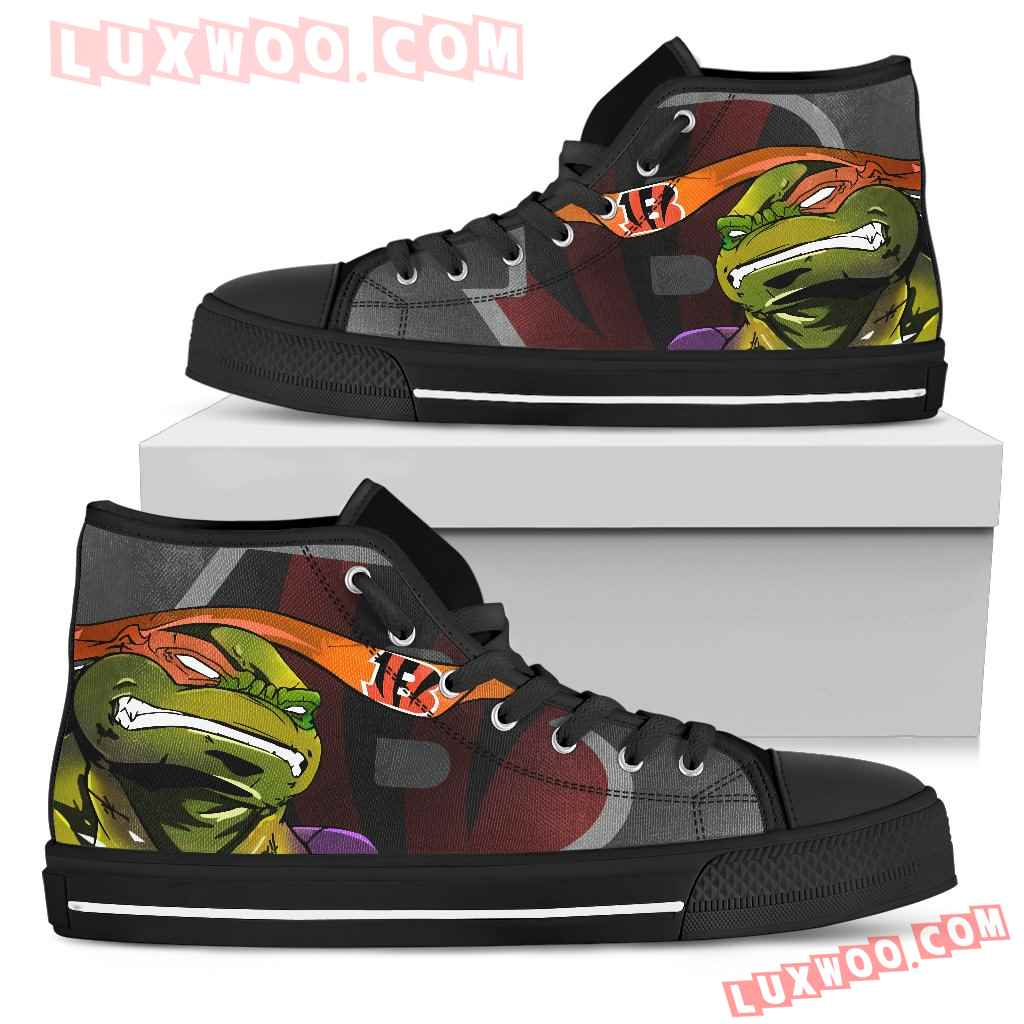 Turtle Cincinnati Bengals Ninja High Top Shoes