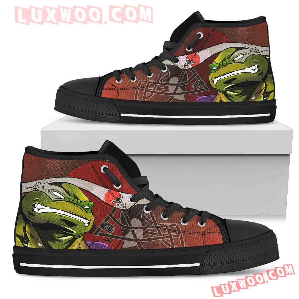 Turtle Cleveland Browns Ninja High Top Shoes