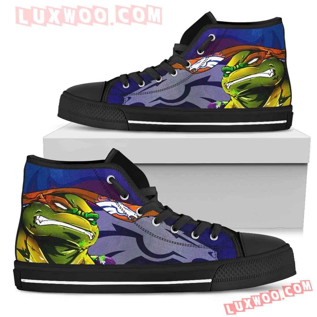 Turtle Denver Broncos Ninja High Top Shoes