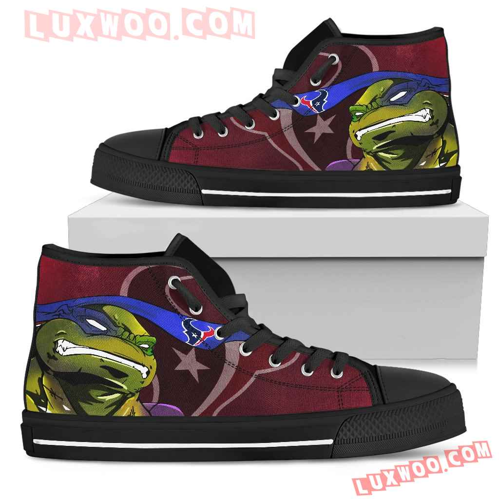 Turtle Houston Texans Ninja High Top Shoes