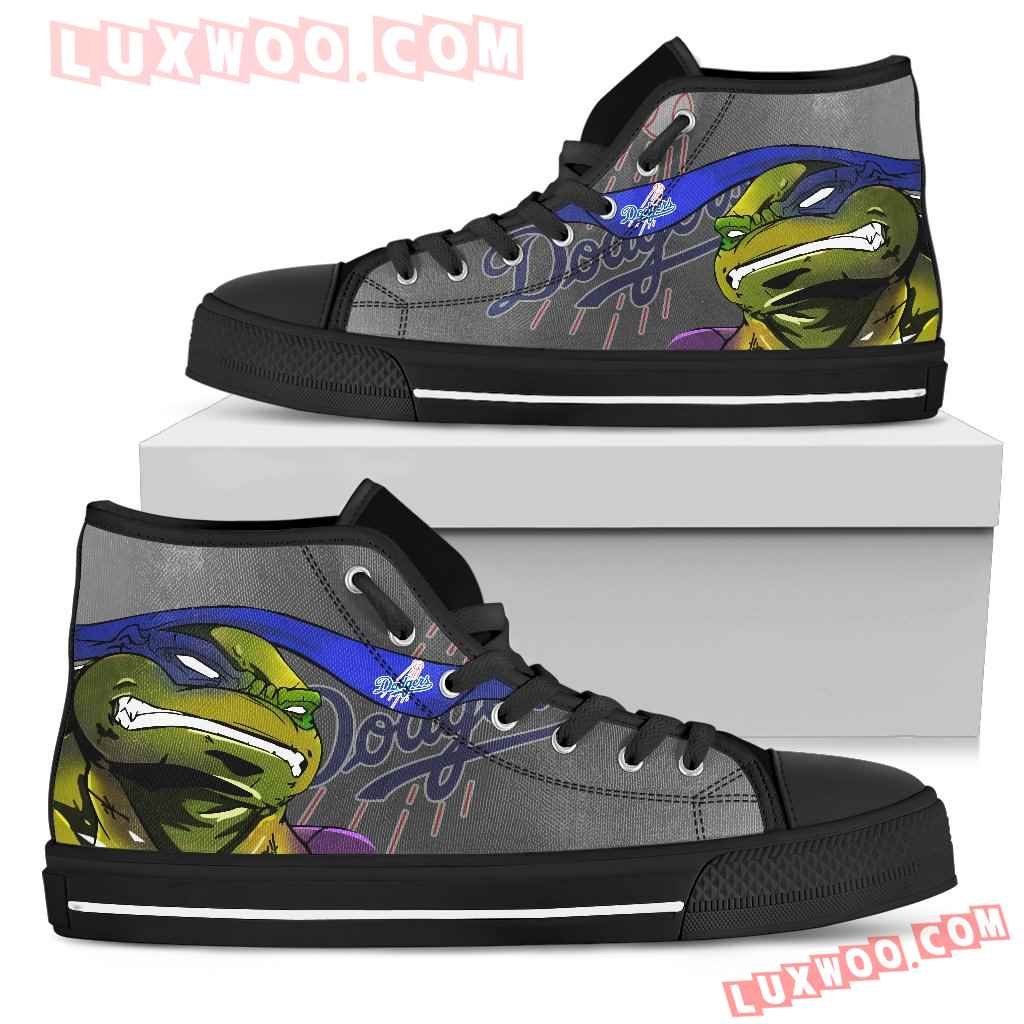 Turtle Los Angeles Dodgers Ninja High Top Shoes