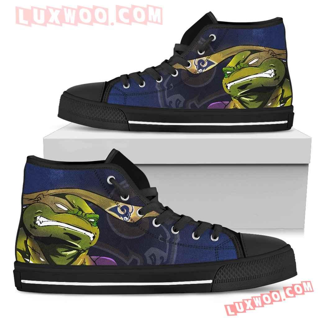 Turtle Los Angeles Rams Ninja High Top Shoes