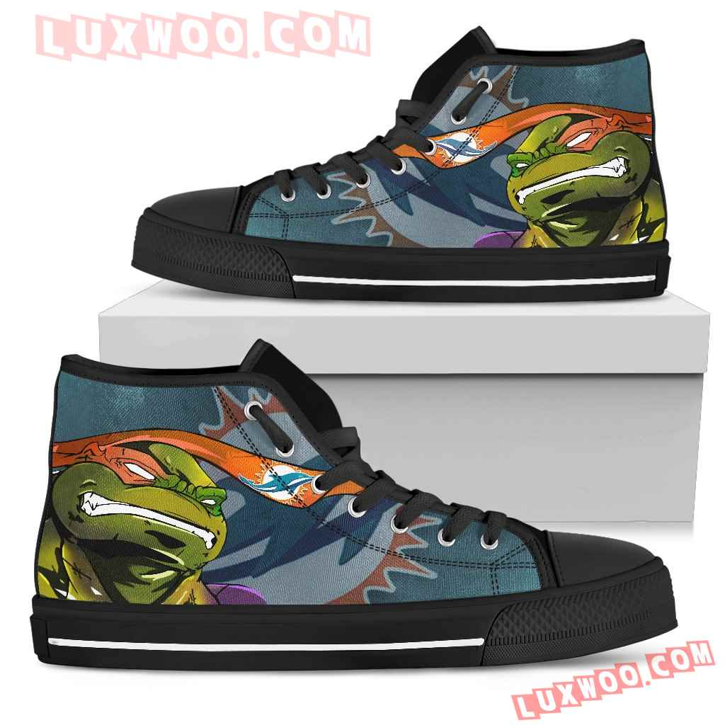 Turtle Miami Dolphins Ninja High Top Shoes