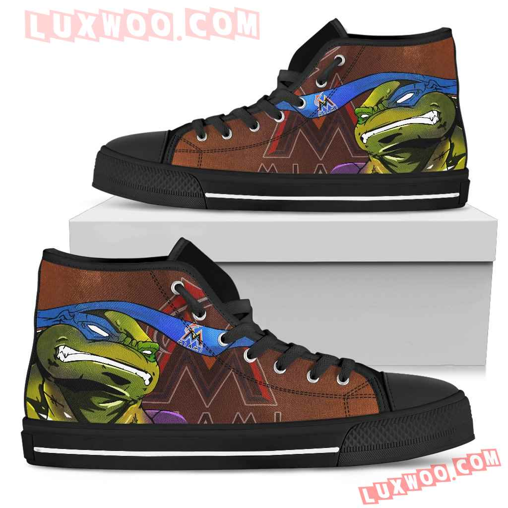Turtle Miami Marlins Ninja High Top Shoes