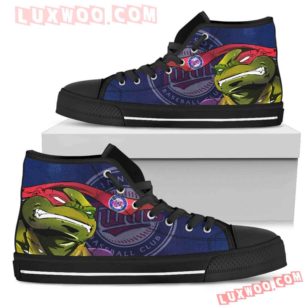 Turtle Minnesota Twins Ninja High Top Shoes