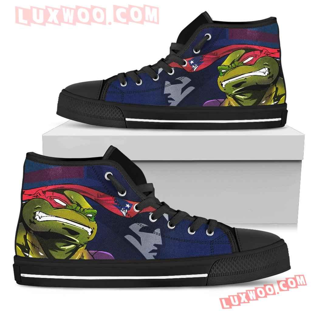 Turtle New England Patriots Ninja High Top Shoes