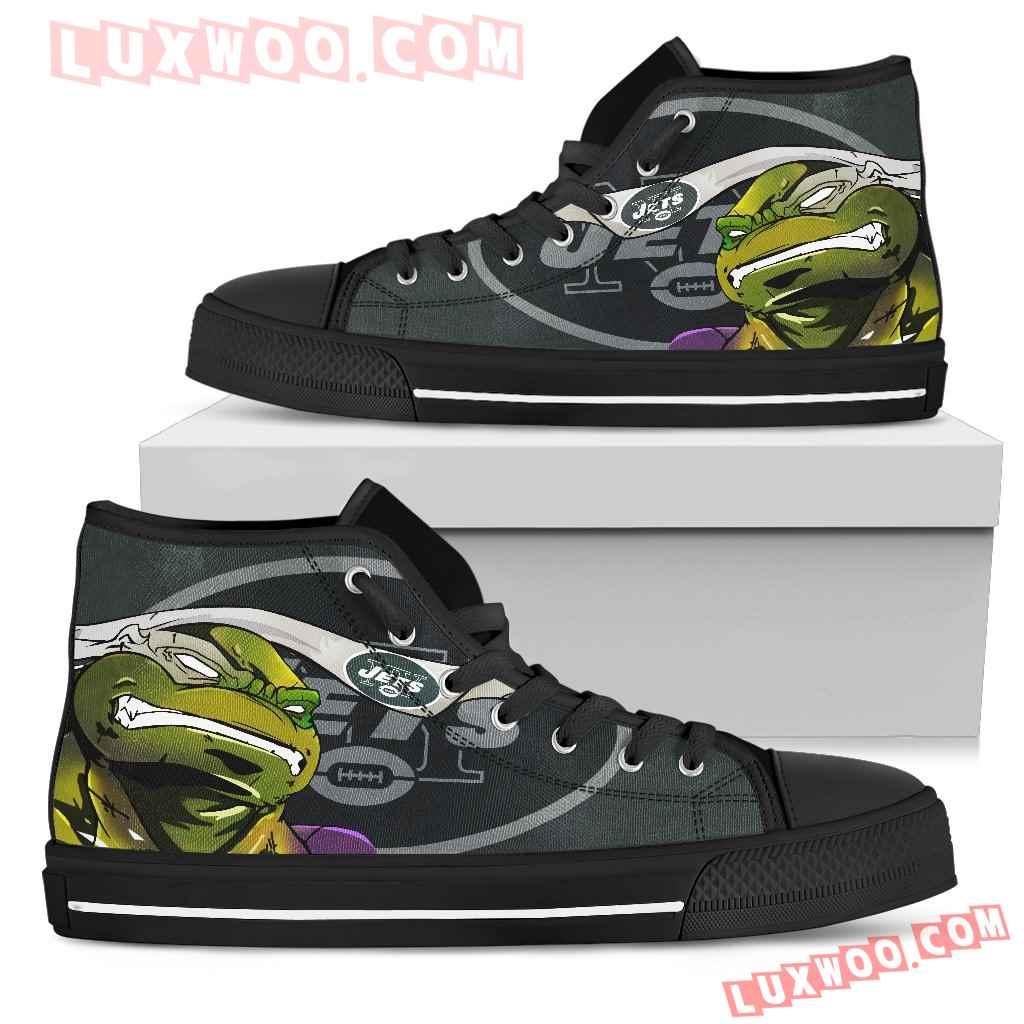 Turtle New York Jets Ninja High Top Shoes