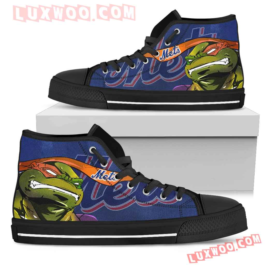 Turtle New York Mets Ninja High Top Shoes