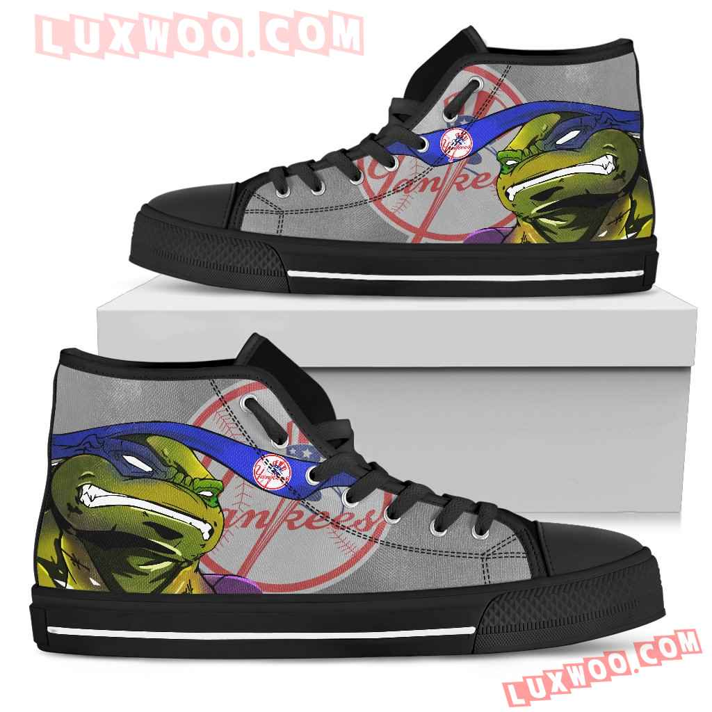 Turtle New York Yankees Ninja High Top Shoes