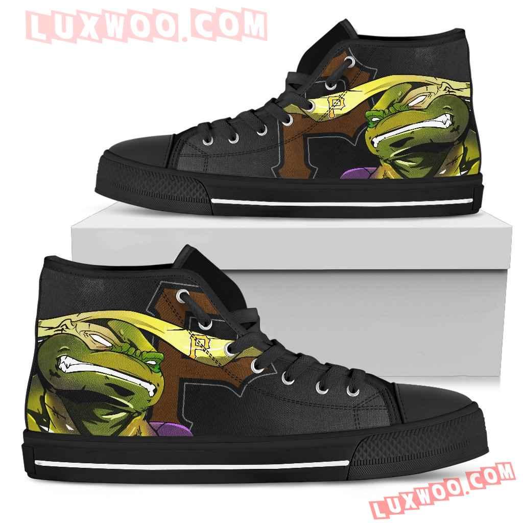 Turtle Pittsburgh Pirates Ninja High Top Shoes