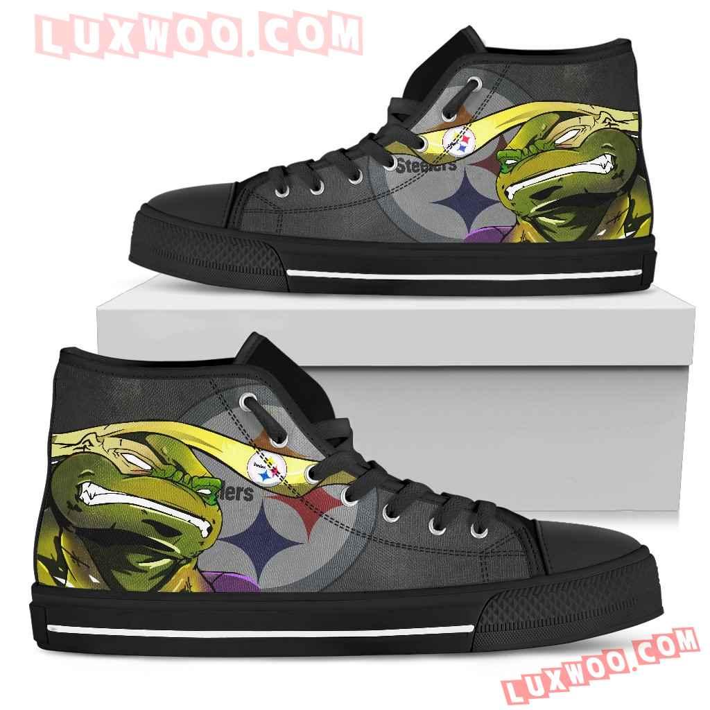 Turtle Pittsburgh Steelers Ninja High Top Shoes