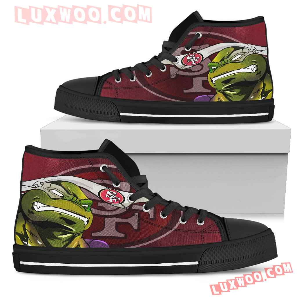 Turtle San Francisco 49ers Ninja High Top Shoes