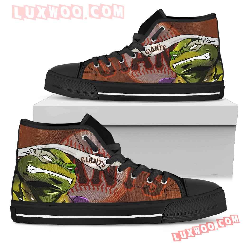 Turtle San Francisco Giants Ninja High Top Shoes