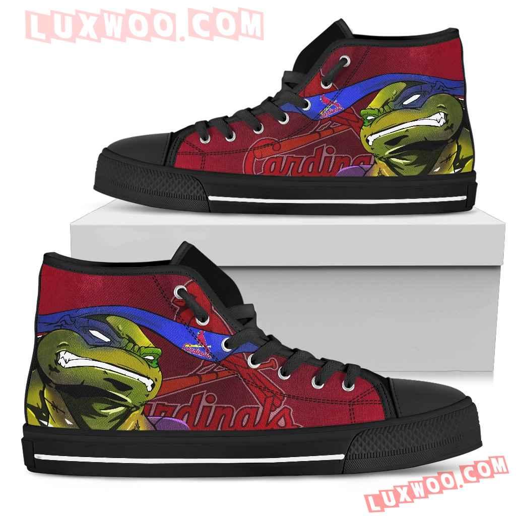 Turtle St Louis Cardinals Ninja High Top Shoes