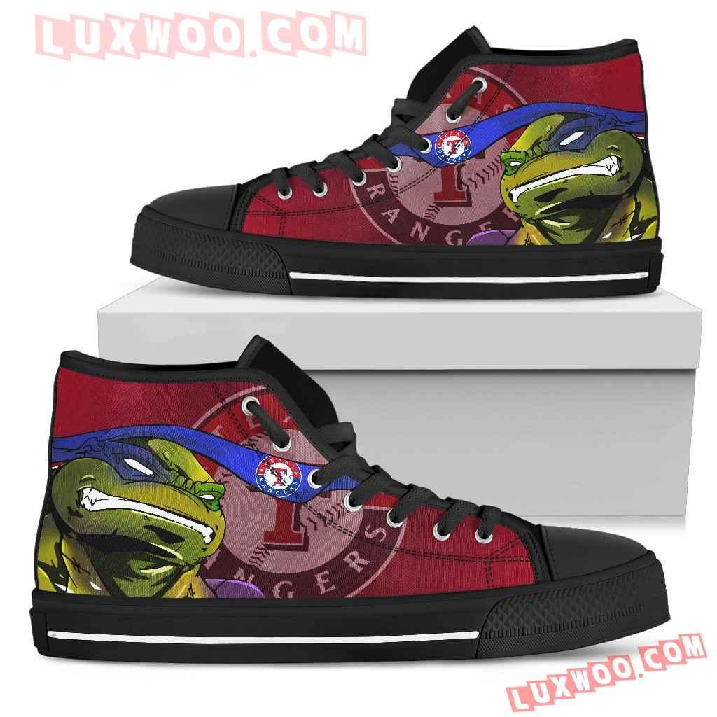 Turtle Texas Rangers Ninja High Top Shoes