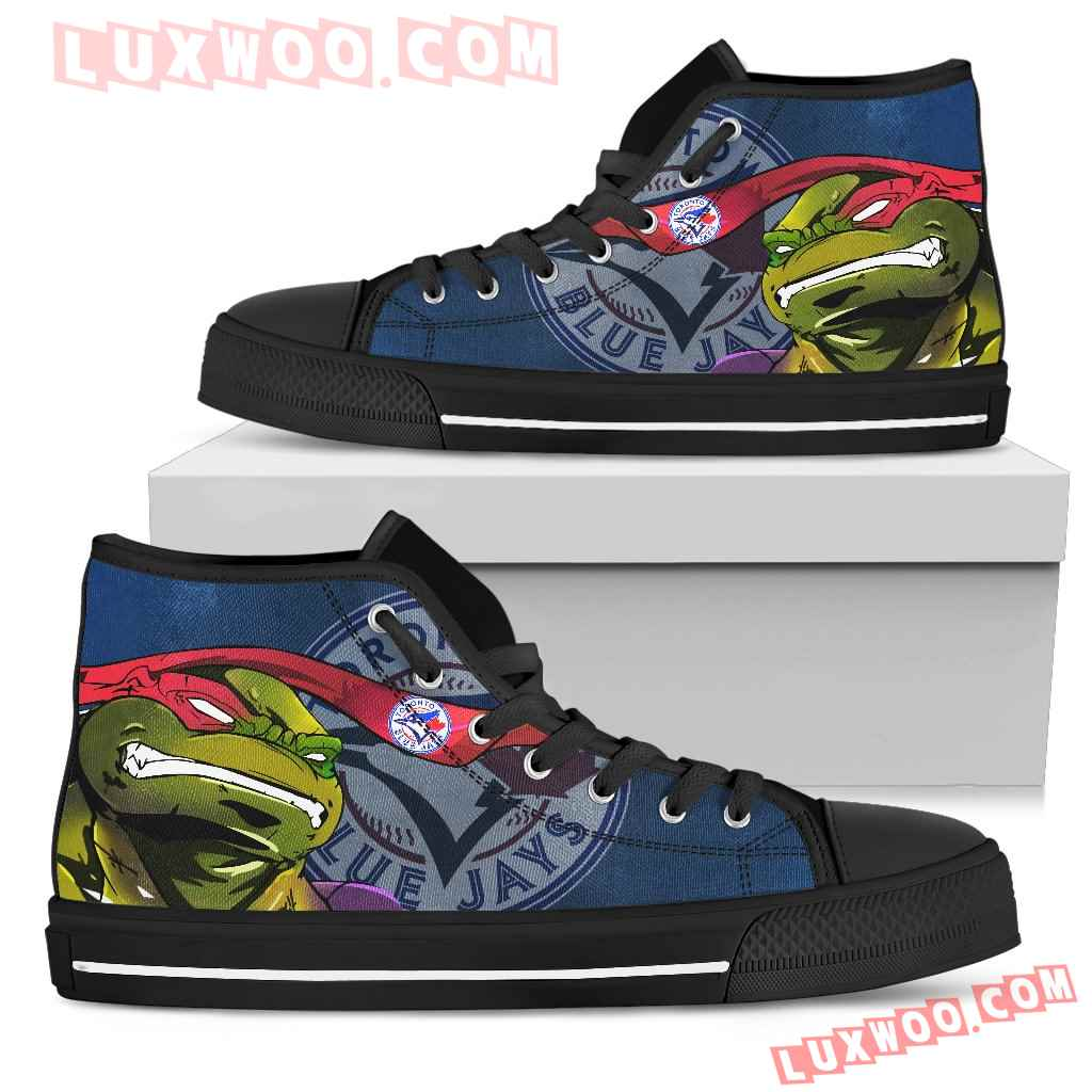 Turtle Toronto Blue Jays Ninja High Top Shoes